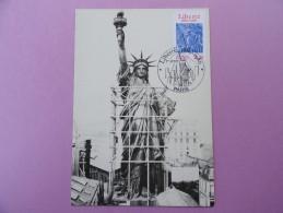 CARTE MAXIMUM CARD LA STATUE DE LA LIBERTÉ D'AUGUSTE BARTHOLDI AVEC OPJ - 1980-89