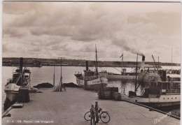 "Norvège :  Norge :  Hamar  Ved  Bryggene  , Bateau  Vapeur "" Skreir,hamar , ...""  1953 - Norvegia"