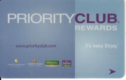 HONG KONG - Priority Club Rewards, Member Card, Used - Cartes D'hotel