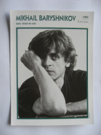 Mikhaïl Barychnikov    - Carte Fiche Technique Cinema 18 X 13 Cm - Photos