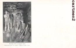 MACHINE DRILL LEXINGTON MINE GOLD KING MINE W.A. LOPER. CREEK MINE D'OR ETATS-UNIS MINEUR USINE INDUSTRIE 1900 - Mines