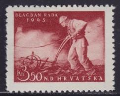 4630. Croatia NDH 1945 Labour Day, MH (*) Michel 178 - Croatie