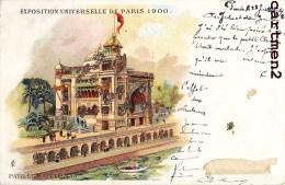 PARIS EXPOSITION UNIVERSELLE 1900 PAVILLON OTTOMAN ILLUSTRATION LITHOGRAPHIE + CACHET PARISS 88 TURQUIE TURKEY - Expositions