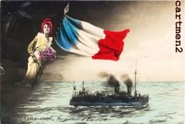 """LE TORPILLEUR D'ESCADRE """" CASABIANCA """" MARINE MILITAIRE FRANCAISE PATRIOTISME GUERRE DRAPEAU MARIANNE BOAT - Guerra"""