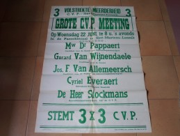3 Volstrekte Meerderheid C.V.P. 3 - Sint-Martens-Lennik 22 Juni ( Pappaert Van Wijnendaele Van Allemeersch Everaert ! - Posters