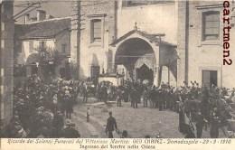 DOMODOSSOLA FUNERALI DEL VITTORIOSO MARTIRE GEO CHAVEZ AVIATORE AVIAZIONE PILOTA AVIATEUR AVIATION 1910 - Italia