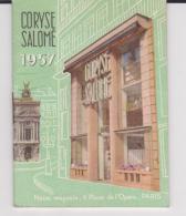 PETIT CLENDRIER PARFUMS CORYSE SALOME 1957  MAGASIN DE LILLE  THEME DU PARFUM - Petit Format : 1941-60