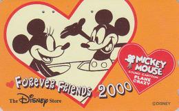 Télécarte Japon / 110-209563  - DISNEY STORE - MICKEY / PLANE CRAZY - Japan Phonecard Telefonkarte / 5000 EX - Disney