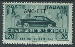 1951 TRIESTE A SALONE DELL'AUTO DI TORINO MH * - P21 - Nuovi