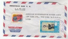 Air Mial  ECUADOR COVER Stamps 3- Tomas Wright $2 Amigo To USA - Ecuador