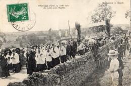 PELERINAGE D'OYE 14/08/1910 EN ROUTE POUR L'EGLISE - France