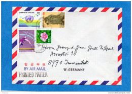 MARCOPHILIE-lettre  KOREE* Cad 1985-4 Stamps-N°1208-gymnastique+1289 UN+1218 - Corée Du Sud