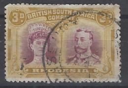 Rhodesia U 25 (o) British South Africa Company.1910 - Südrhodesien (...-1964)