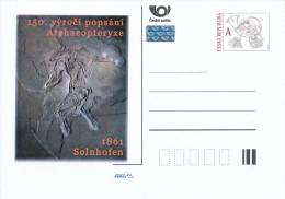 Czech Rep. / Postal Stat. (Pre2011/96) 150 Anniversary Describe Archaeopteryx (2 Pieces), Solnhofen, Hermann Von Meyer - Postcards