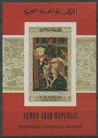 Jemen (Nordjemen) 1968 Gemälde: Die Jagd Block 73 Postfrisch (C13085) - Yemen