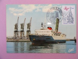 CARTE MAXIMUM CARD LA COTE D'OPALE DUNKERQUE NORD LE SAINT-GERMAIN SUR OPJ - Cartes-Maximum