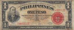 PHILIPPINES 1 PESO 1941 P-89c VF S/N E4663513E [PH0546c] - Philippines