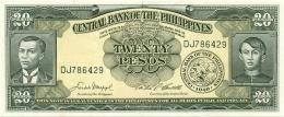 PHILIPPINES 20 PESOS 1949 (1962) P-137d UNC  [PH0921d] - Philippines