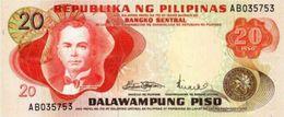 PHILIPPINES 20 PISO (PESOS) 1970 P-150a UNC PREFIX AB [PH1009a] - Philippines