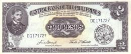 PHILIPPINES 1 PESO ND (1969) P-133h UNC [PH133h] - Filippine