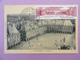 CARTE MAXIMUM CARD CHARLEVILLE PLACE DUCALE SUR OPJ SUR CPA - 1980-89