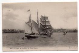 CPA - GRANVILLE - DEPART D'UN TERRE NEUVAS - BATEAU - N/b - Vers 1910 - - Granville