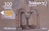 SLOVENIA  Phonecard  300  Impulz  Monastery Stična / Bifora - Slovenia