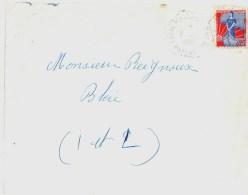 3546 LAVAL MAGENTA CP N° 34 Mayenne Lettre Nef Yv 1234 Ob Hexagone Pointillé Poste Auto Rurale 8 4 1960 Lautier G6 - Manual Postmarks