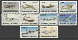 SIERRA LEONE 1990 AIRCRAFT SET MNH - Flugzeuge