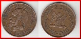 SATIRIQUE **** MODULE DE LA 5 CENTIMES NAPOLEON III LE MISERABLE - VAMPIRE FRANCAIS - SEDAN 1851 - 1870 **** - Variétés Et Curiosités