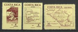 COSTA RICA  1987,MAP,COLOMBUS,DISCOVERY OF AMERICA  MNH - Costa Rica