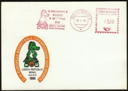 Czech Republic Brno 1995 / 25th European Basketball Championship For Women / Machine Stamp - Basketball