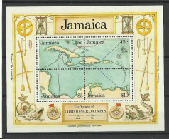 JAMAICA  1990  VOYAGE OF COLOMBUS,DISCOVERY OF AMERICA MS  MNH - Jamaica (1962-...)