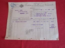 Corderies Et Ficelleries De Normandie à Yvetot( 76190). Facture De 1923. - Francia