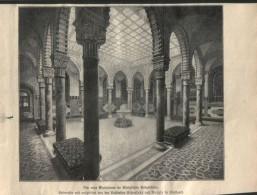 """Der Neue Warteraum Im Königlichen Badgebäude - Druck, Ausgeschnitten   Aus """"die Gartenlaube"""", 1897 - Zeitungen & Zeitschriften"""