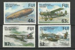 FIJI  1998  80th ANNIV. OF ROYAL AIR FORCE,AIRCRAFT SET MNH - Vliegtuigen
