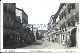 56515 SPAIN ESPAÑA ORENSE STREET CALLE DE GENERAL FRANCO PHOTO NO POSTAL TYPE POSTCARD - Sin Clasificación
