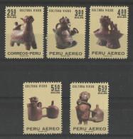 PERU  1970 VICUS CULTURE,SCULPTURES,ARCHAEOLOGY SET  MNH - Peru