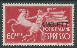 1950 TRIESTE A ESPRESSO DEMOCRATICA 60 LIRE MH * - P19-5 - 7. Triest