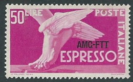 1952 TRIESTE A ESPRESSO DEMOCRATICA 50 LIRE MH * - P19-5 - 7. Triest
