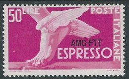 1952 TRIESTE A ESPRESSO DEMOCRATICA 50 LIRE MH * - P19-6 - 7. Triest
