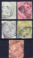 JAMAIQUE 1883-96 YT N° 16, 18, 20, 21 Et 22 Obl. - Jamaica (...-1961)