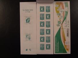 "2014 CARNET "" LA LETTRE VERTE A 3 ANS ""NEUF** Et NON PLIE MARIANNE CERES ROTY BEAUJARD  Et CIAPPA - Booklets"