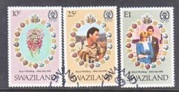 SWAZILAND  382-4   (o)  ROYAL  WEDDING  PRINCESS  DI - Swaziland (...-1967)
