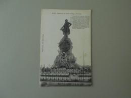 GARD ALES ALAIS STATUE DE J. P. CLARIS DE FLORIAN FABULISTE - Alès