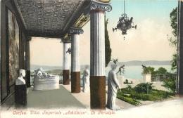 CPA Corfou-Villa Impériale-Achilleion-Le Peristyle    L2195 - Grecia
