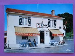 """Cpsm Cpm 08 SENUC  Cafe Tabac LE MARCASSIN Chez Andre """"CIM"""" PUB Biere Le Pecheur Kronenbourg - France"""