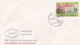 Cuba FDC 1987 Esperanto (SKO10-12Q) - Esperanto