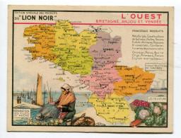 Pub Des Produits Du Lion Noir : L´Ouest Avec Département Calvados Mayenne Orne Finistère Et Sarthe   A  VOIR  !!!!!!! - Advertising