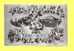 CPA 06 BERRE Les ALPES (FL 38)  UN BONJOUR SUPERBE ( Roses Pensées Entrelacées ) - Greetings From...